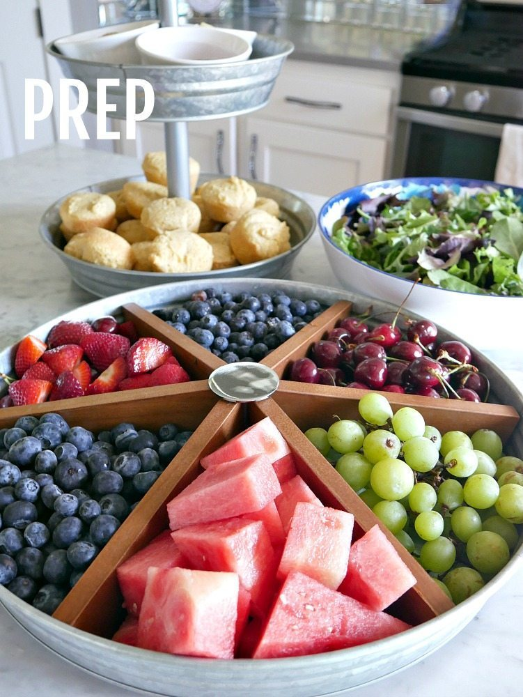 Summer Entertaining Tips - Prep your food before guests arrive