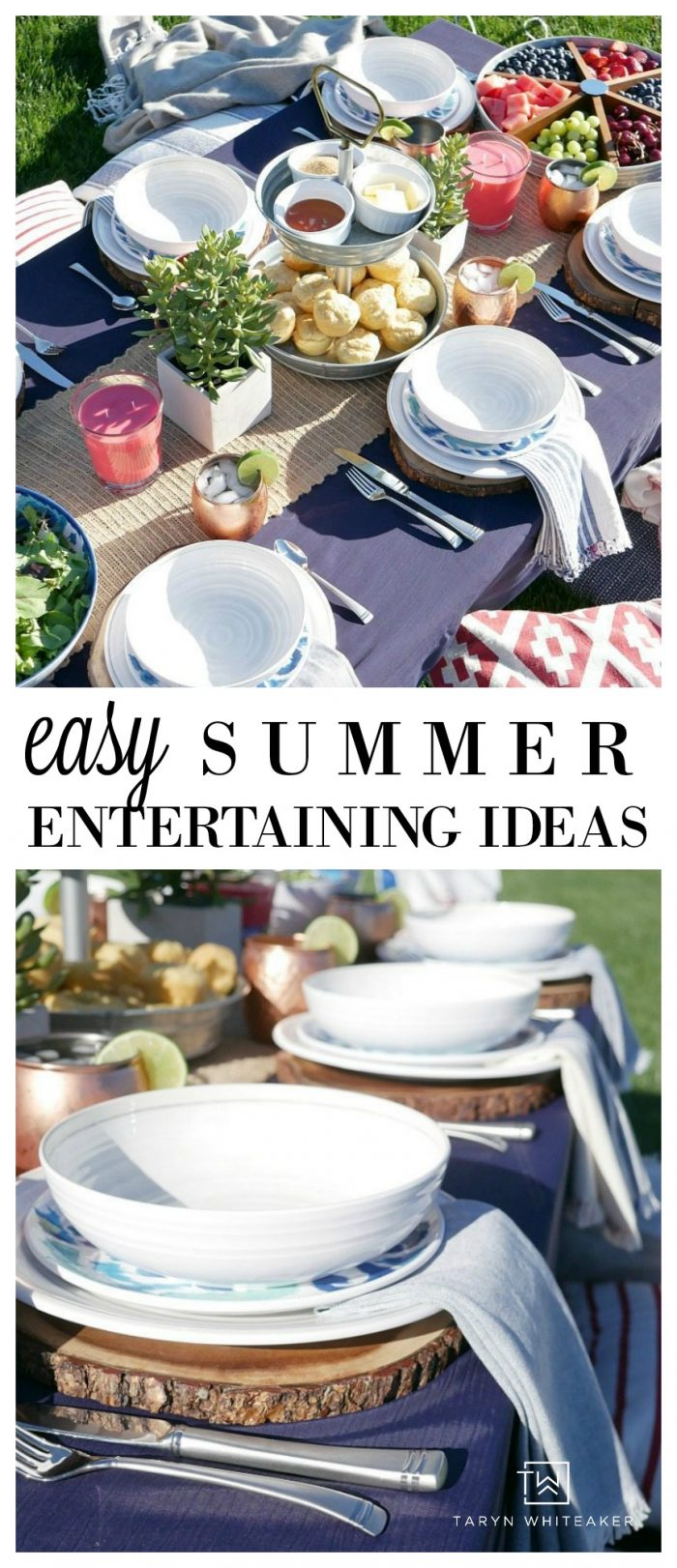 Easy Summer Entertaining Ideas - Tons of Tips For A Backyard Gathering