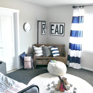 Black and Navy Boy Room