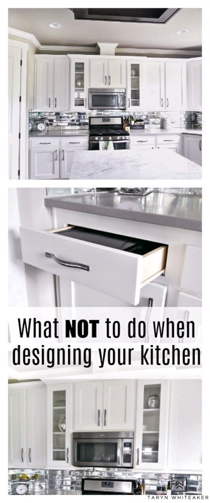 What NOT To Do When Designing Your Kitchen - Before you dive into your kitchen remodel read these tips from a regular homeowner who uses their kitchen a ton!