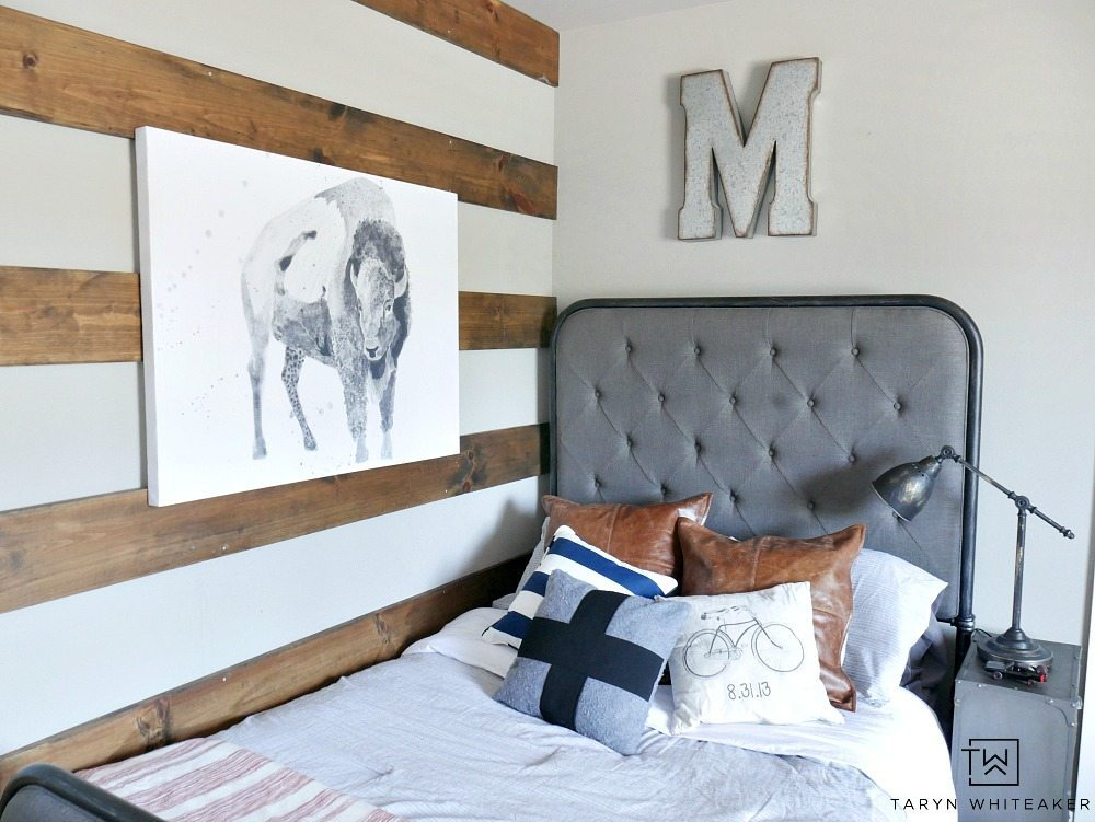 Industrial Farmhouse Boy Room