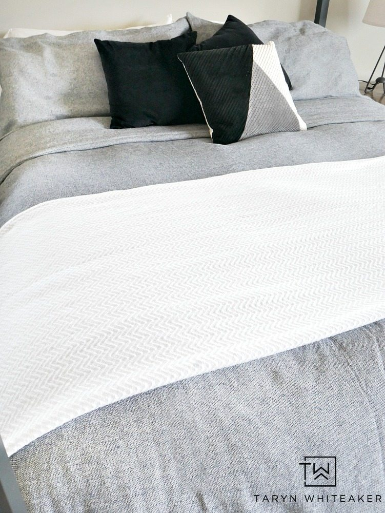 Cozy Chic Black and White Bedding - perfect for a modern looking bedroom