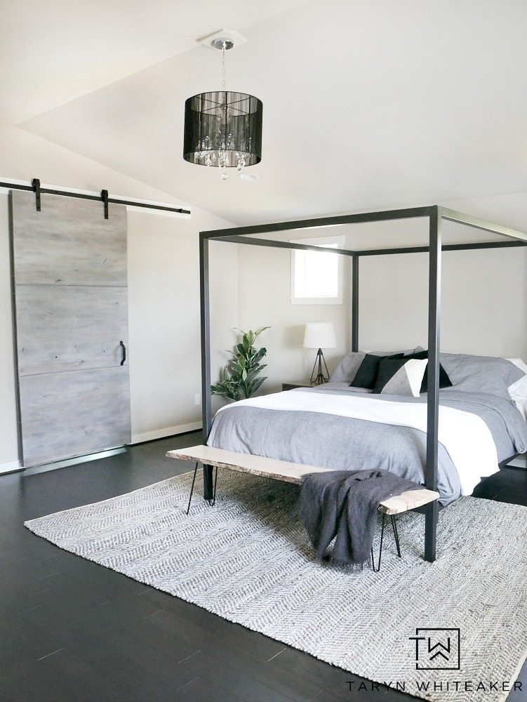 Steel Canopy Bed And Bedding