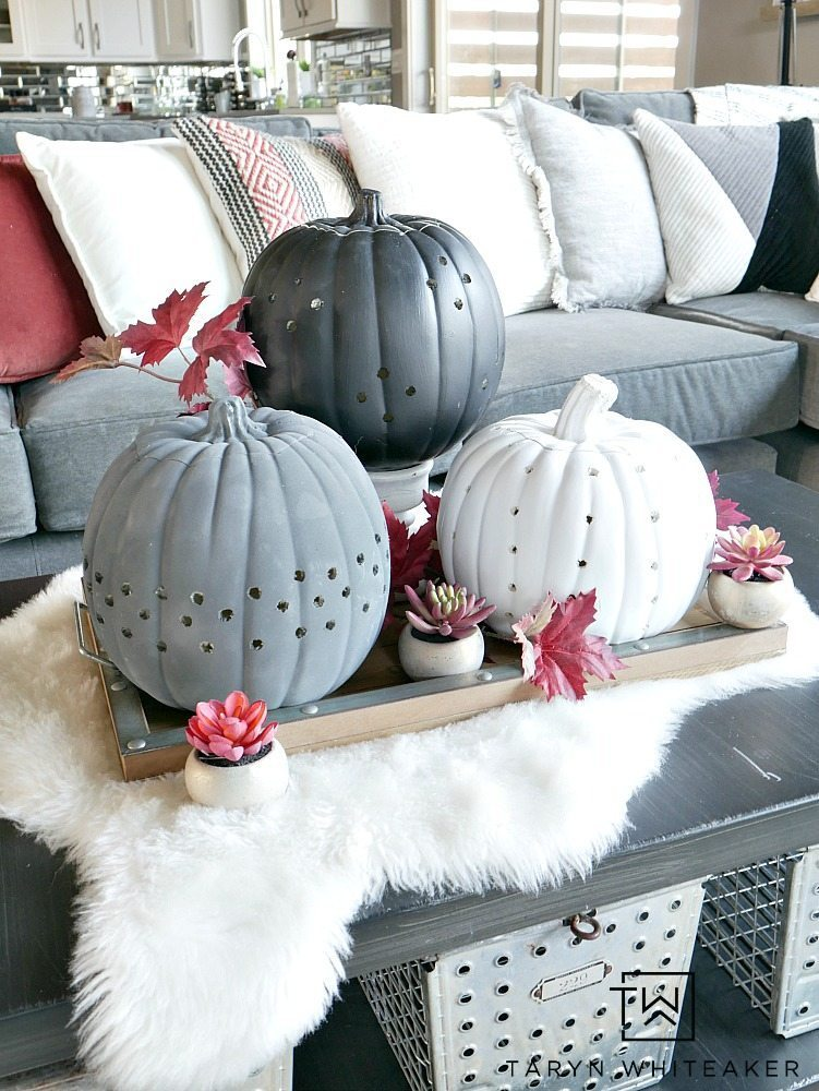DIY Drilled Pumpkins - Taryn Whiteaker
