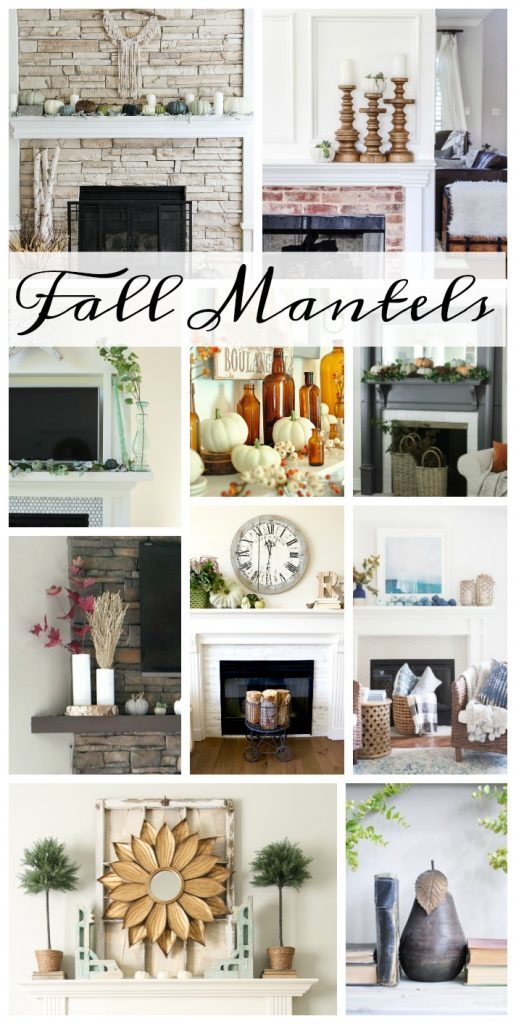 Browse through 10 different Fall Mantels with very classy and elegant approaches to fall decor.