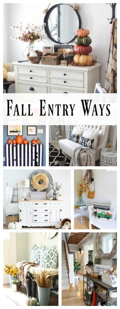 Collection of fall entry ways! Get inspired to decorate your home in a place that welcomes guests!