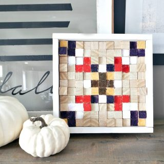 DIY Tribal Wood Block Wall Art
