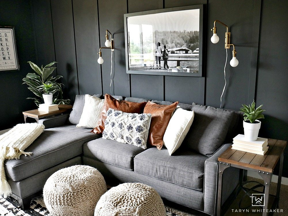 Dark Moody Room Makeover - Taryn Whiteaker