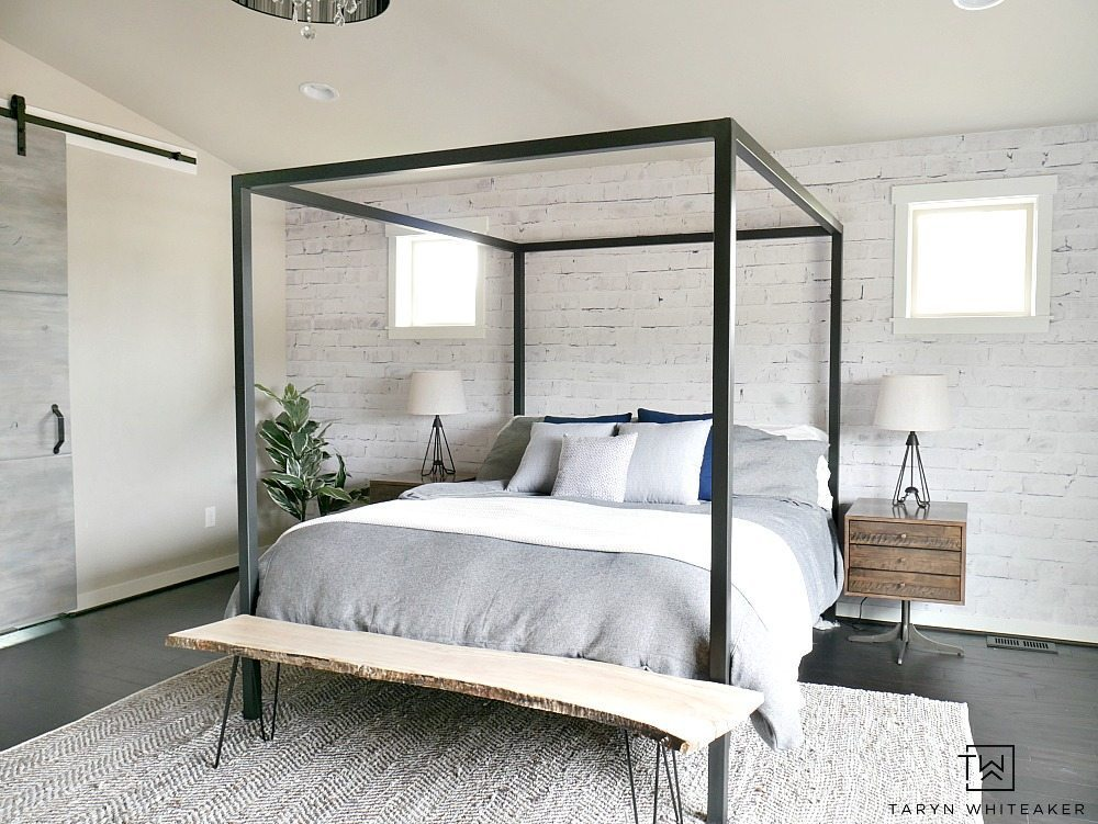 white washed brick wall mural. Black Bedroom Furniture Sets. Home Design Ideas