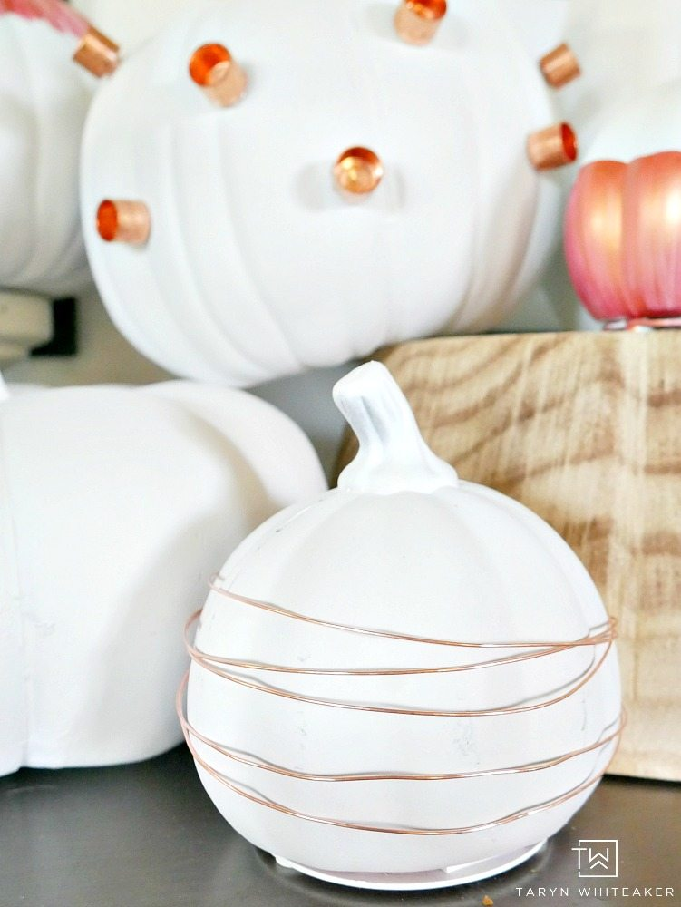 Would you believe these DIY Industrial Chic Pumpkins are made entirely from items you can find at the hardware store? Click the link to see how!