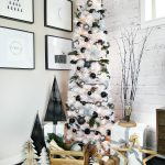Modern Black and White Christmas Tree