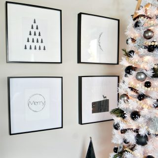 Black and White Modern Christmas Printables