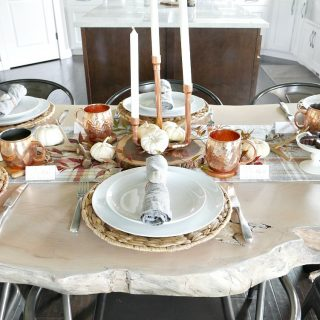 Nature Inspired Thanksgiving Table With Copper Accents