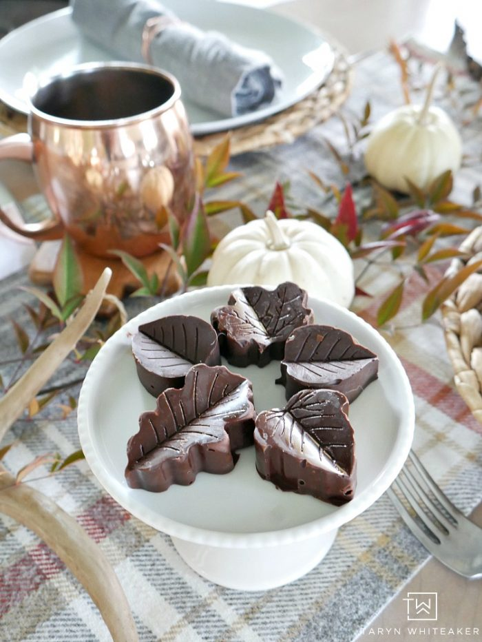 Homemade Leaf Chocolates for your Thanksgiving dinner!