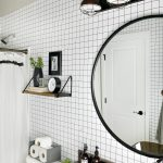Black and White Geometric Bathroom