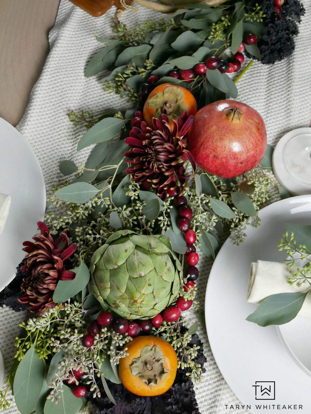 Thanksgiving Tablescape Featuring Cranberries