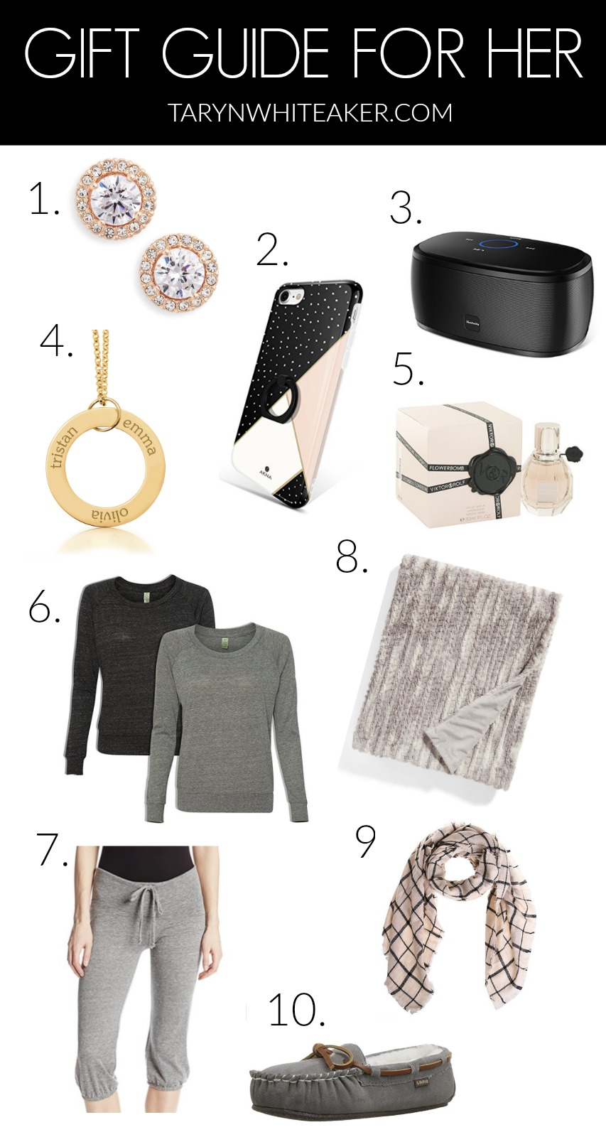 Here is the ultimate Gift Guide For Her! Grab some new ideas for your own list, or send this to your significant other and drop some hints!