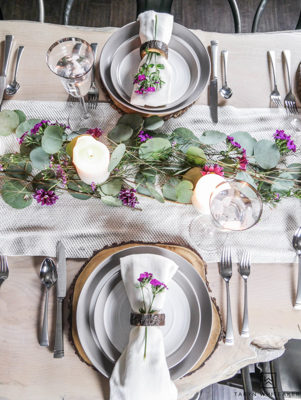 Create this romantic and fresh Floral Valentine's Day Table using a mixture of whimsical greenery and pops of pink flowers. Perfect for the whole family or a galentine's day gathering!