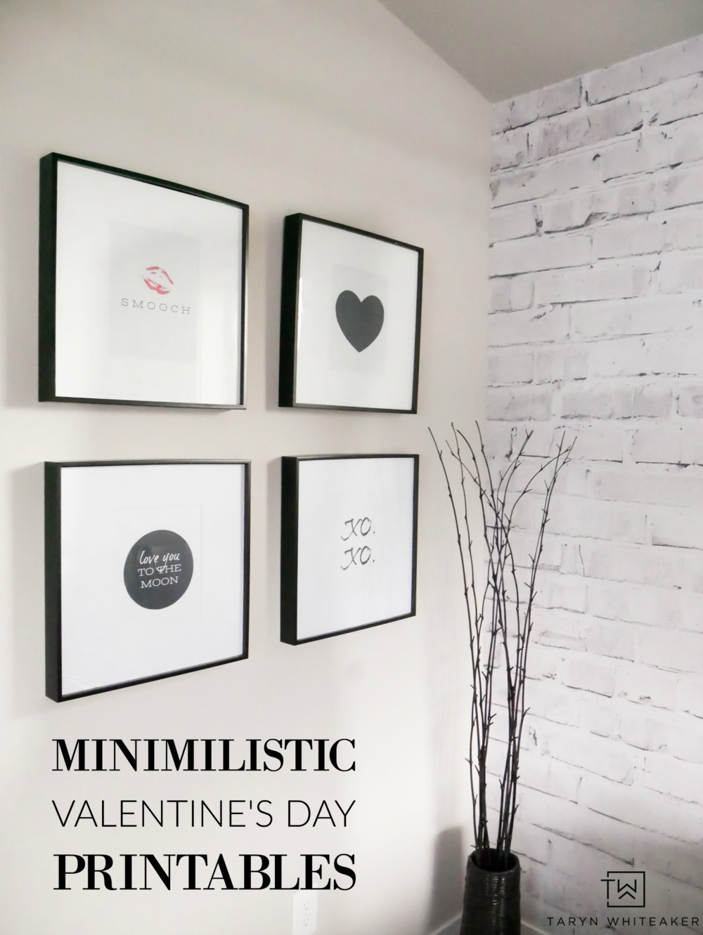 Like clean modern decor but also want to add a little Valentine's Day flare to your home? Download these Free Minimalist Valentine's Day Printables!