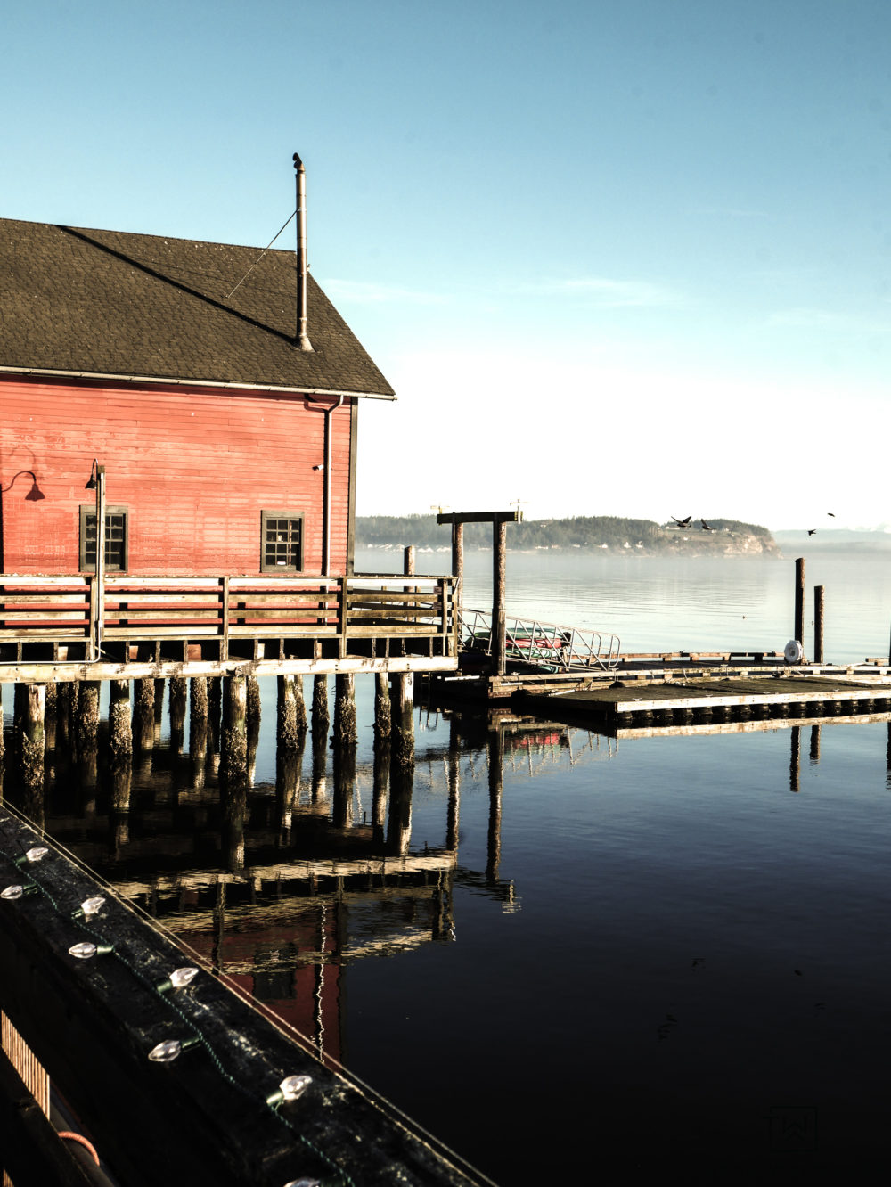 Winter time in Coupeville, Washington on Whidbey Island.