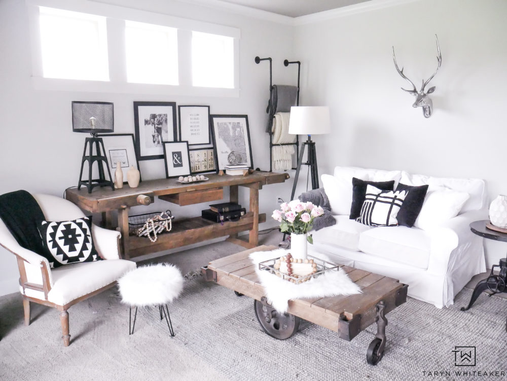 Living Room Paint Refresh using Sherwin Williams Reserved White