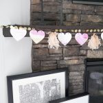Simple Valentine's Day Mantel