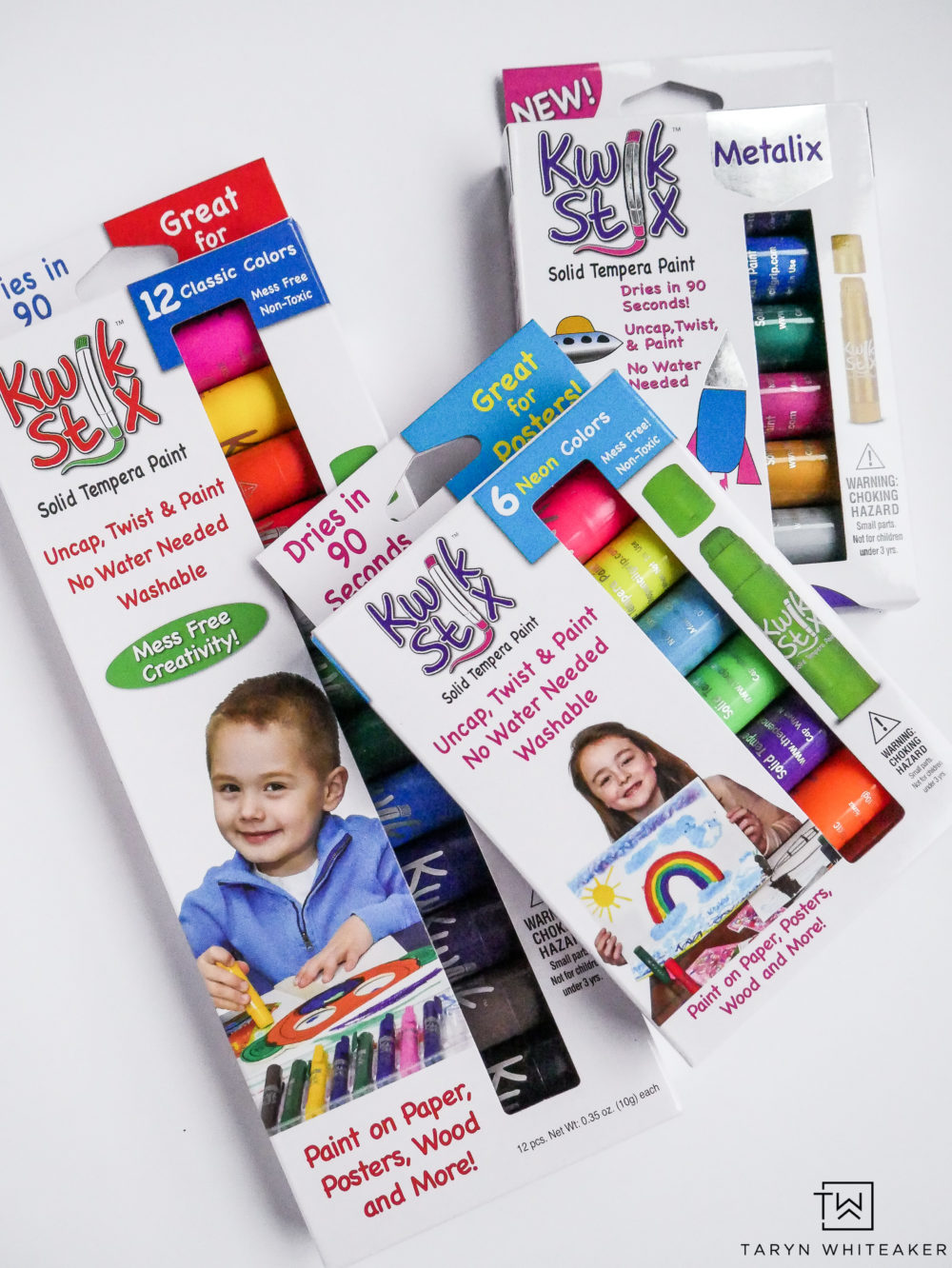 Kwik Stix Paint found at Michaels! Love how this paint dries in 90 seconds!