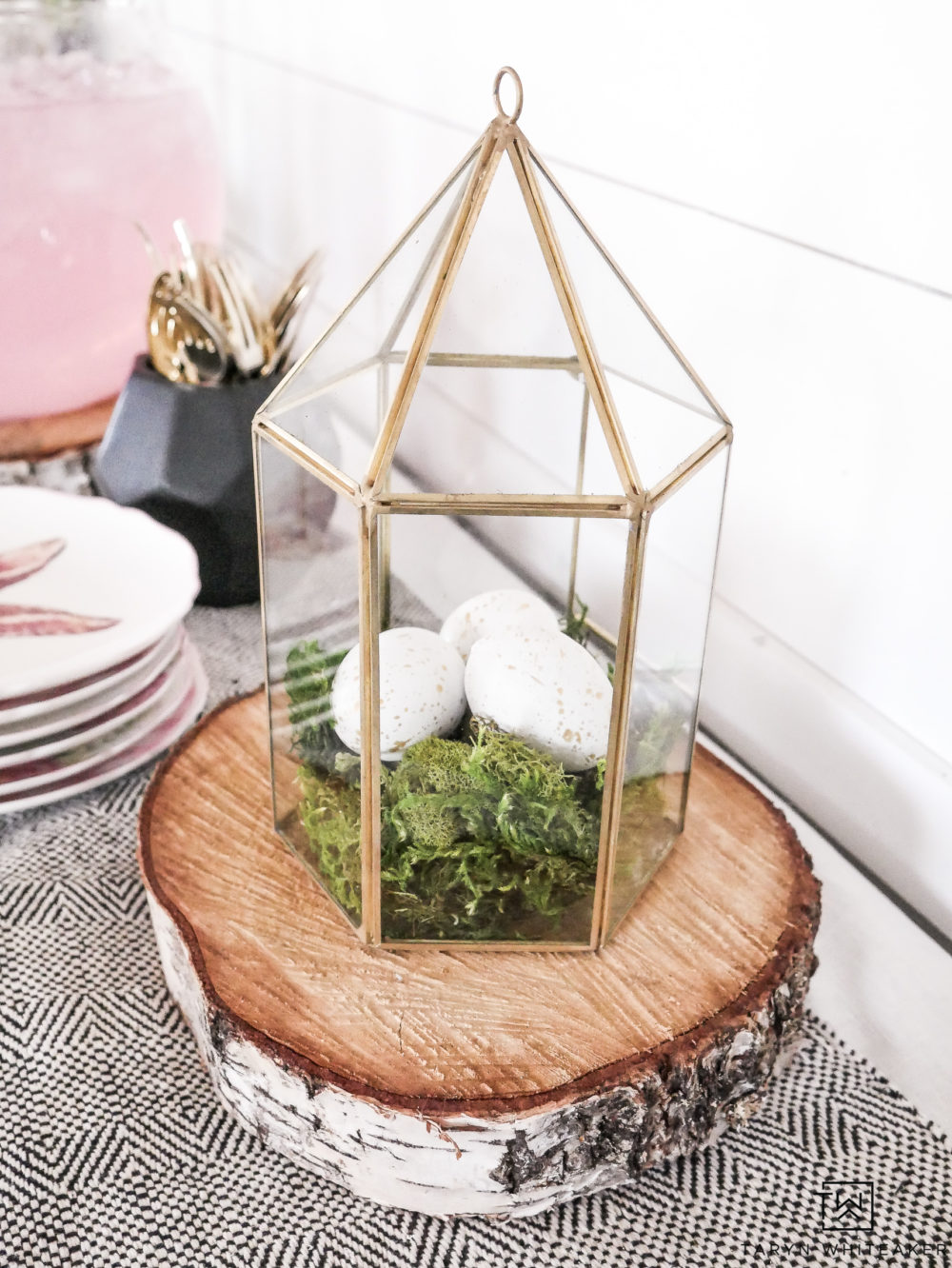 DIY Easter Egg Terrarium - A great DIY Easter Decor project to add to your spring vignette