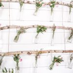 DIY Hanging Floral Backdrop