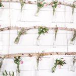 DIY Hanging Floral Backdrop