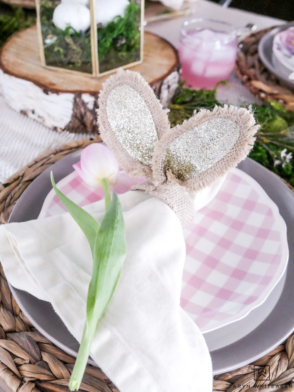 Bunny Ear Napkin Rings makes this sweet Easter Table complete!