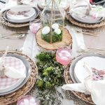 Pink and Green Easter Table