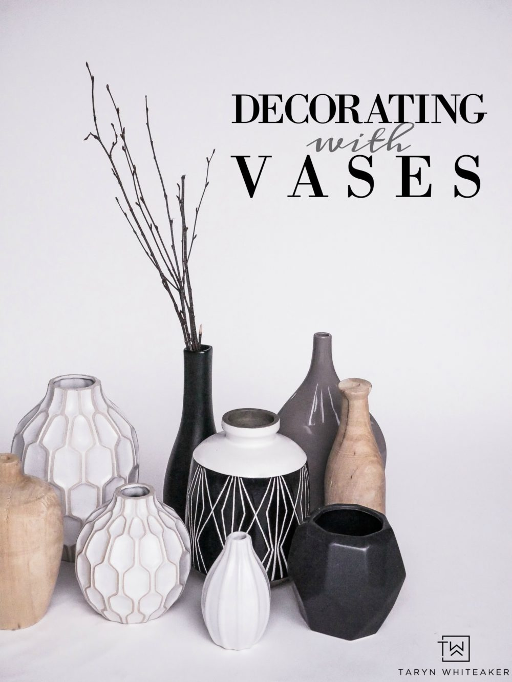 Tips for Decorating With Vases! Tons of great ideas on how to use vases in the details of your home.