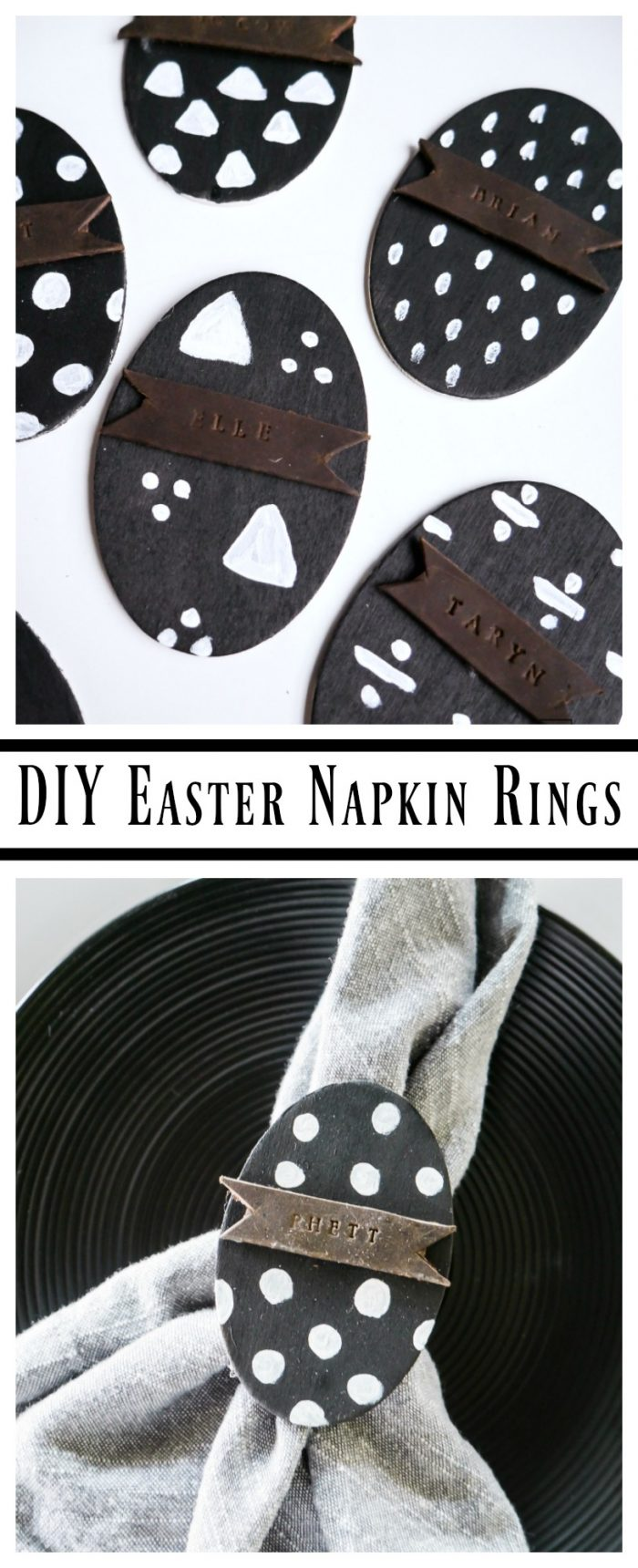 Add a little personalization to your Easter table with these DIY Easter Egg Napkin Rings ! A simple Easter craft that requires minimal time and skill.