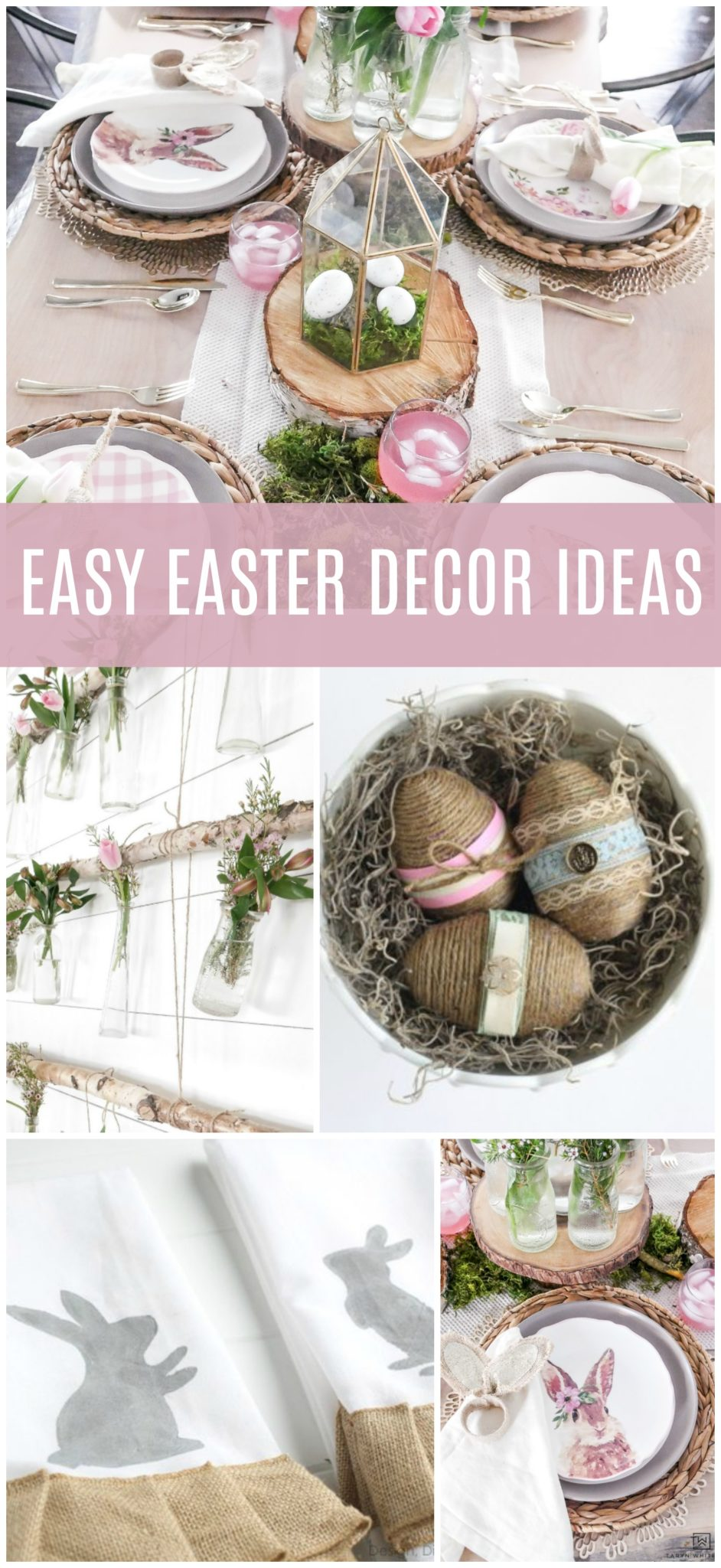 Struggling with how to decorate for Easter? Here are a few Easy DIY Easter Decor Ideas that can help you add a few little Easter touches for everyone to enjoy!