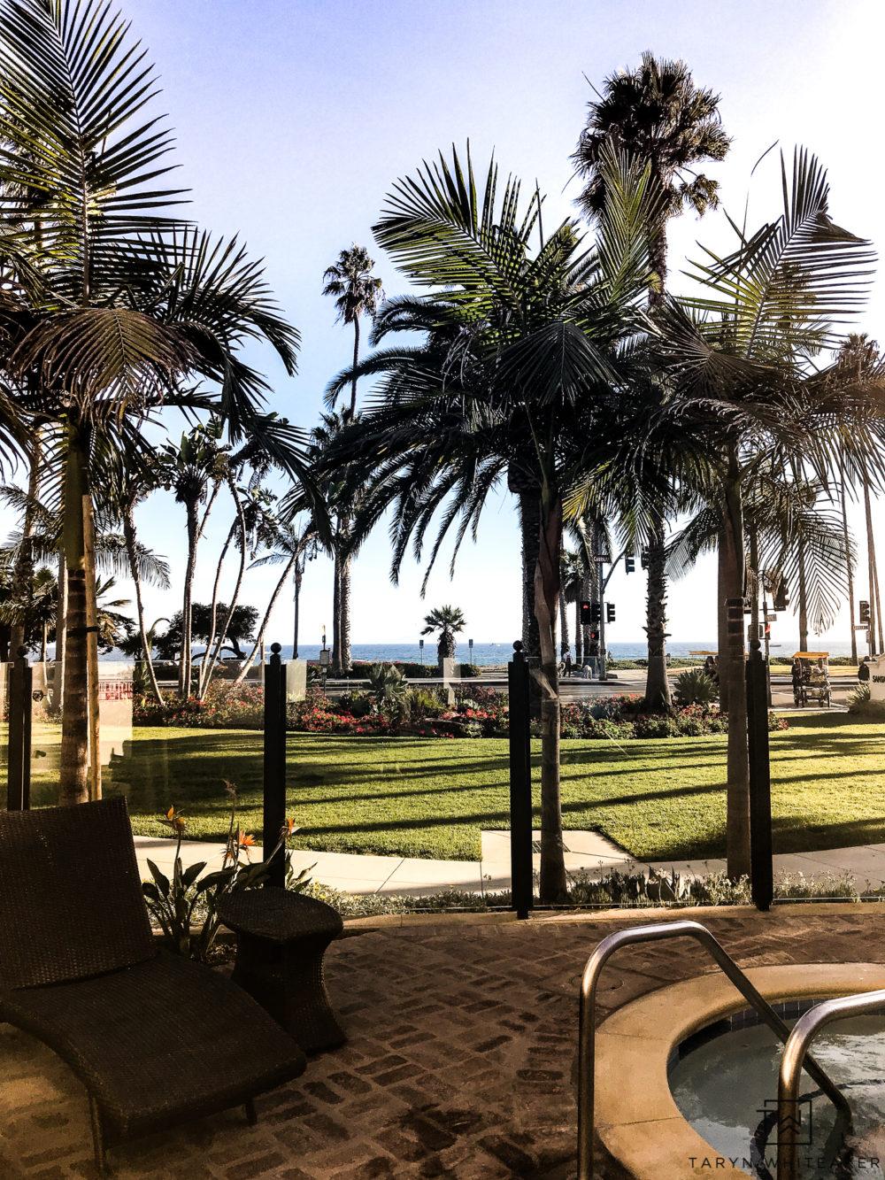 View from the pool at the Santa Barbara Inn