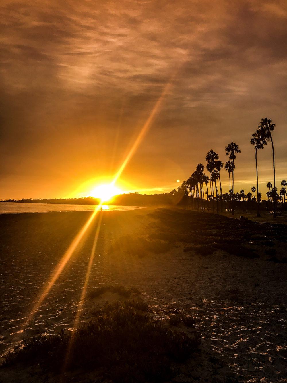 Sunset in Santa Barbara California