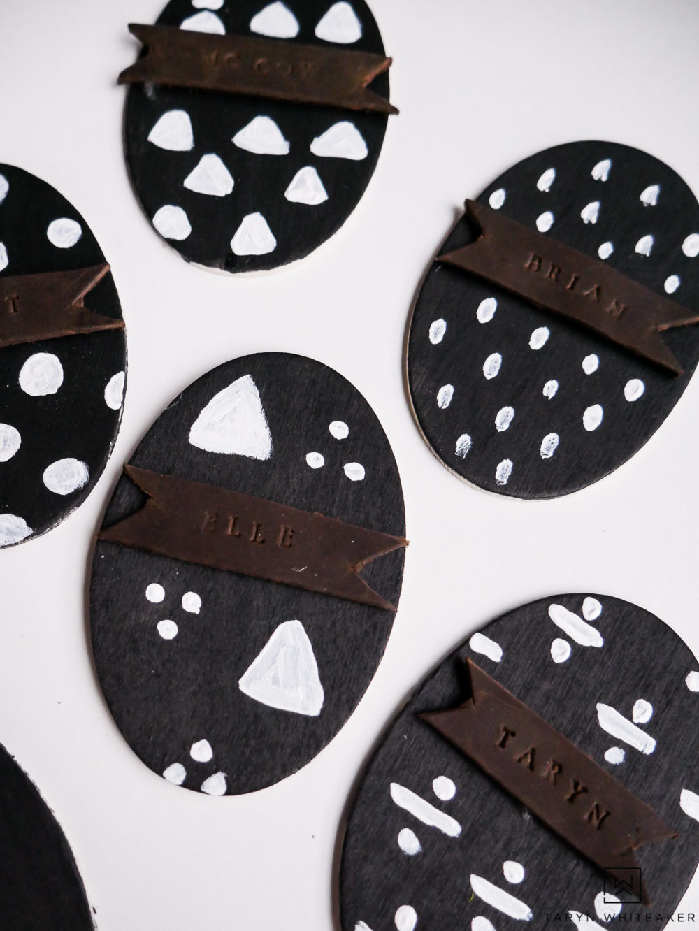 Learn how to make these DIY Easter Egg Place Cards with an industrial touch.