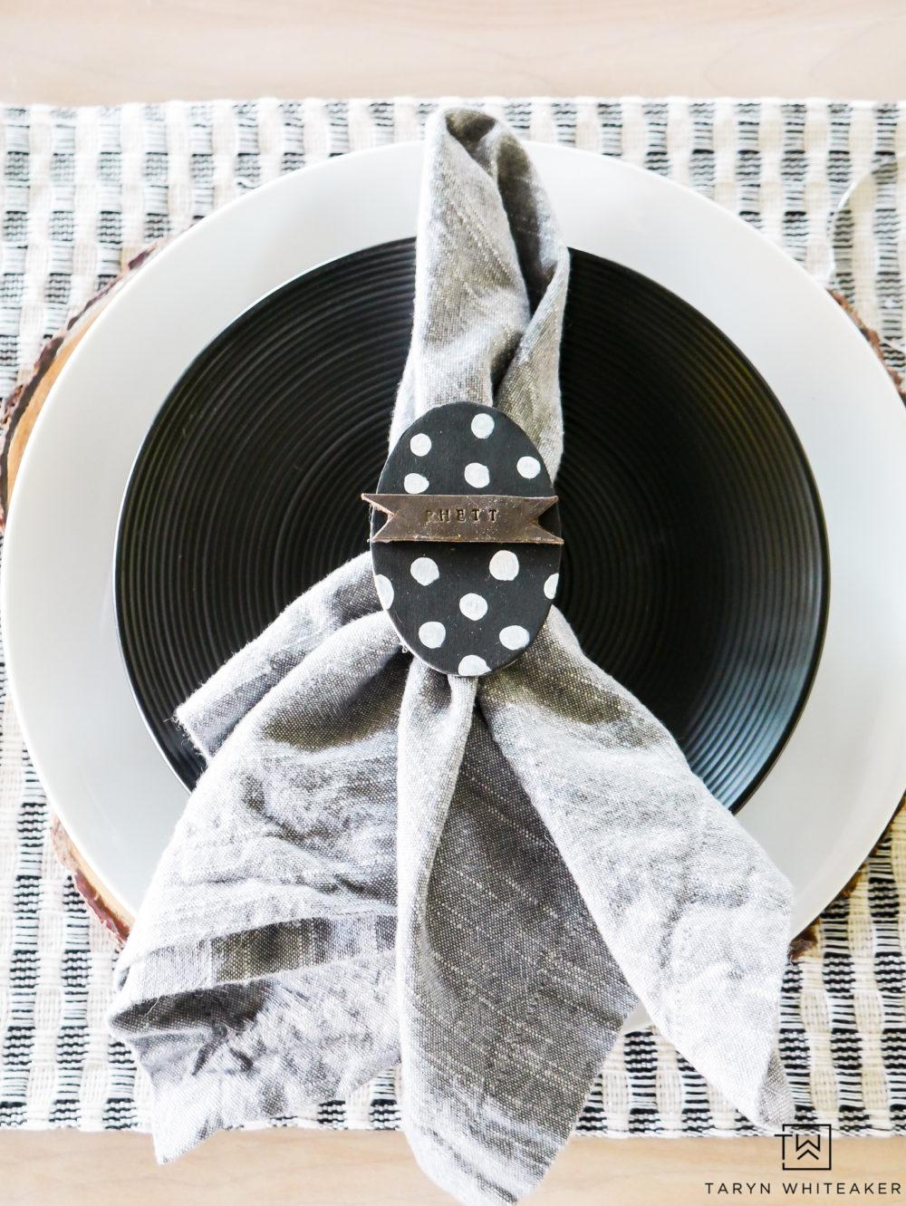 DIY Easter Egg Napkin Rings - Taryn Whiteaker