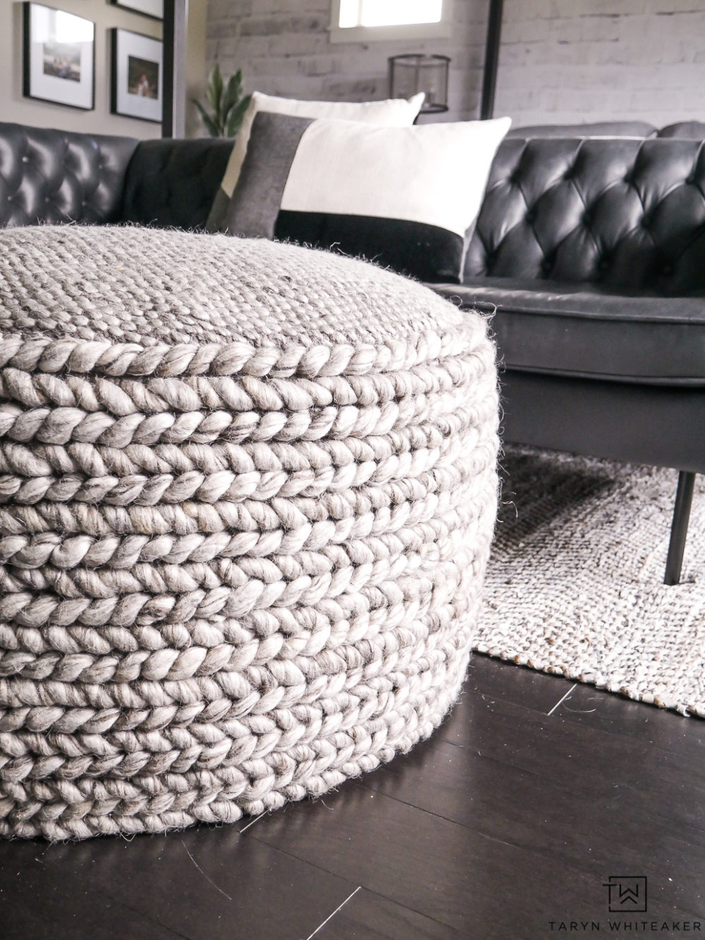 Bring texture and functionality to your space by adding a large woven ottoman ! Love the cozy look and feel.