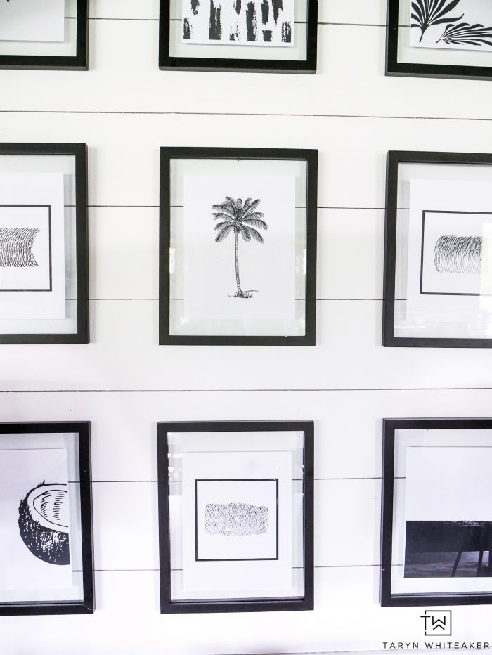 graphic relating to Free Printable Black and White Images known as Black and White Tropical Printables - Taryn Whiteaker