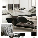 Luxurious Black and White Bedroom Design
