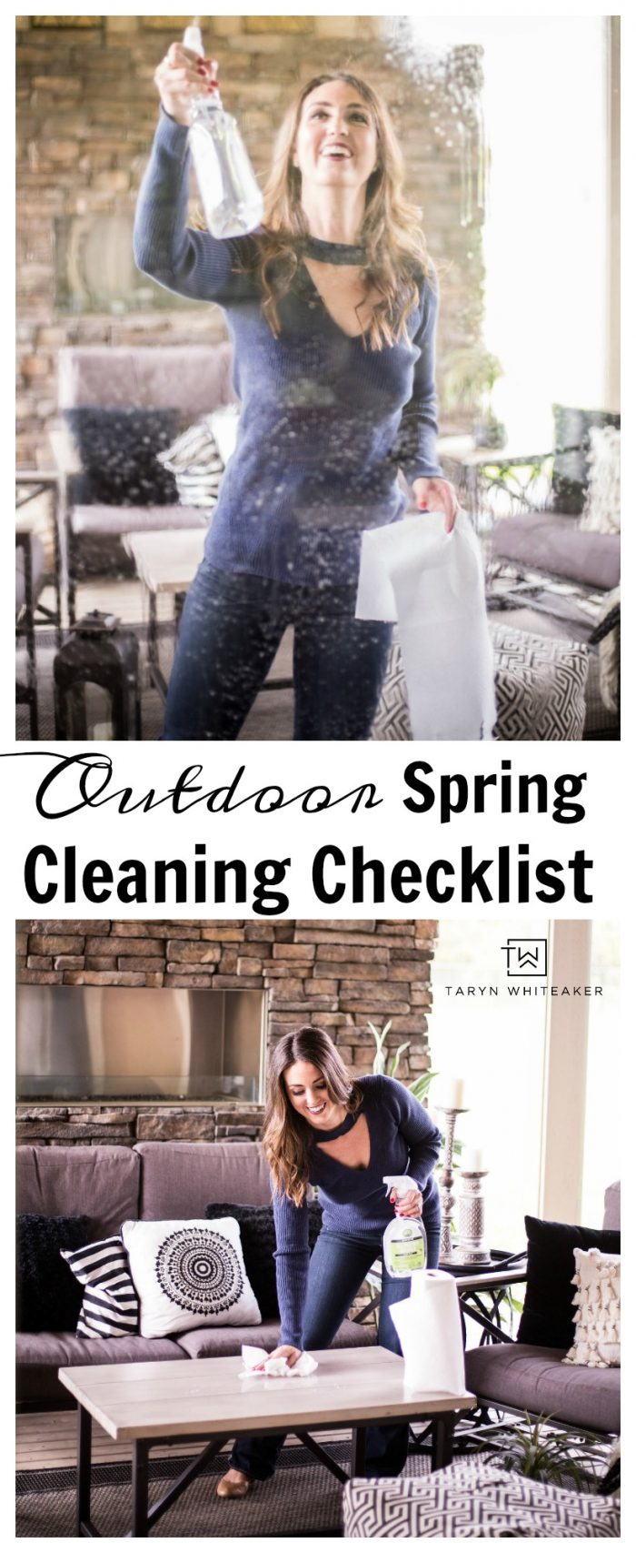 Get your back patio ready for spring! Here is an easy Outdoor Spring Cleaning Checklist to help you freshen up your space for outdoor entertaining.