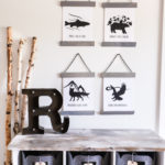 Black and White Woodland Prints