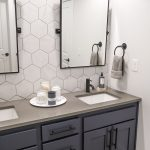 Double Sink Bathroom Vanity Makeover