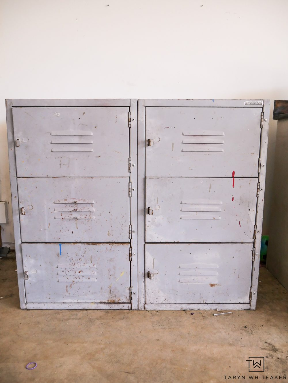 Vintage locker before, click to see the after!