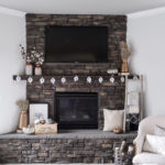 Neutral and Copper Fall Mantel