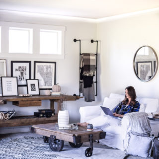Black and White Family Room Updates