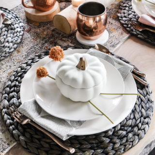 Blush Pink Fall Table Decorations