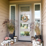 Blush Pink and Gold Fall Porch